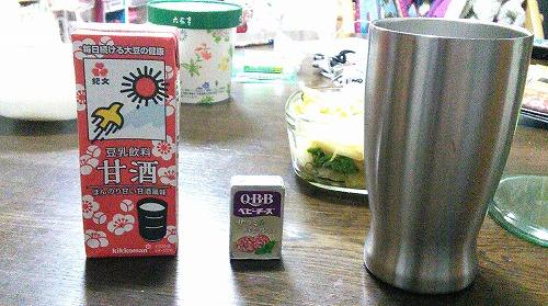 甘酒豆乳の焼酎割り