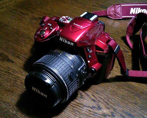 カッコイイ赤色のニコン D5300