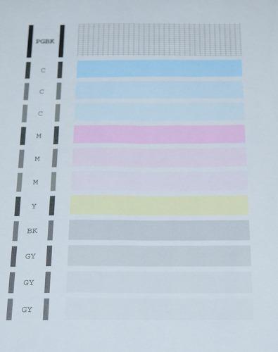 格安インクでノズルチェックパターンを印刷してみた