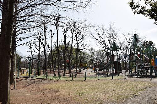 草加公園 ターザンロープ