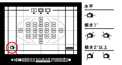 8000D ファインダー内 水準器