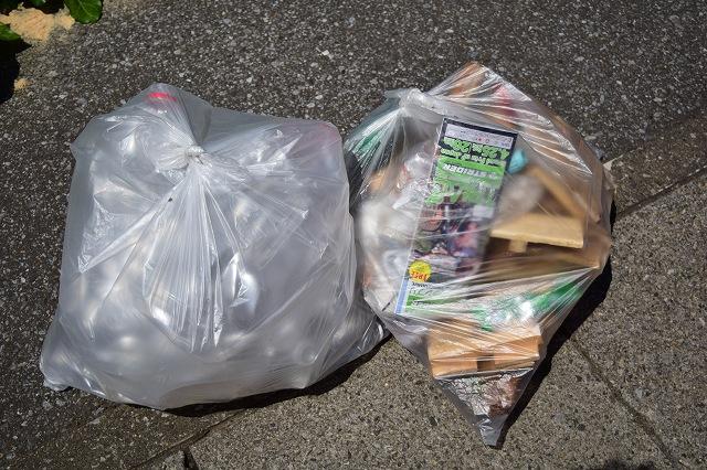 断捨離で出てきたゴミ