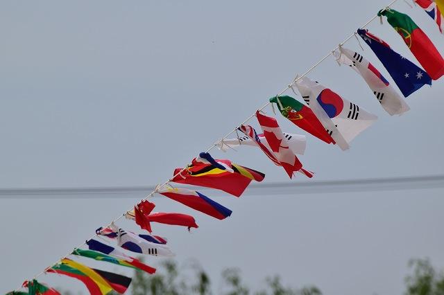 運動会 万国旗