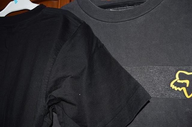 色あせ比較 黒Tシャツ