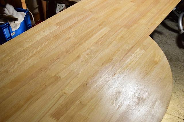 テーブル ニス1度塗り終了