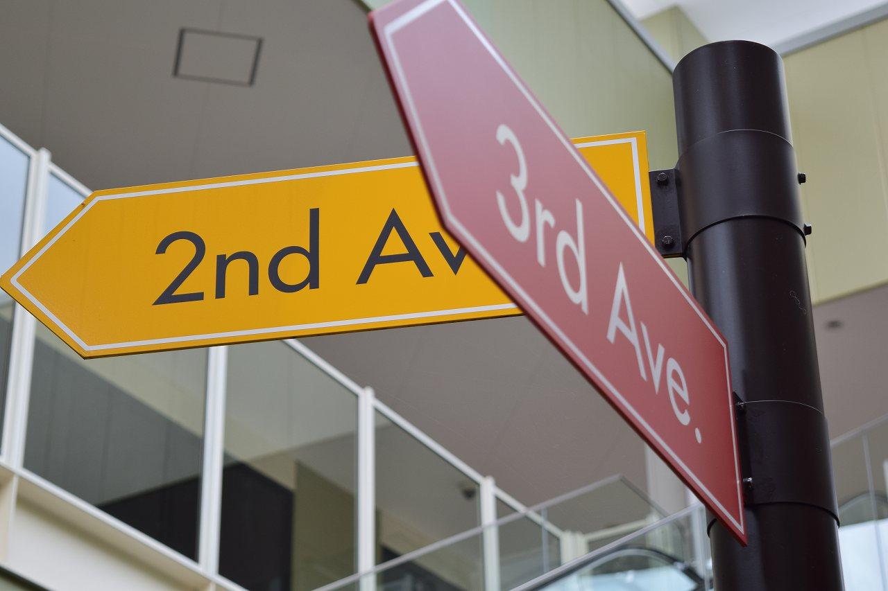 レイクタウン アウトレット 標識