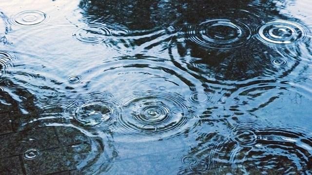 雨が降ると撤収