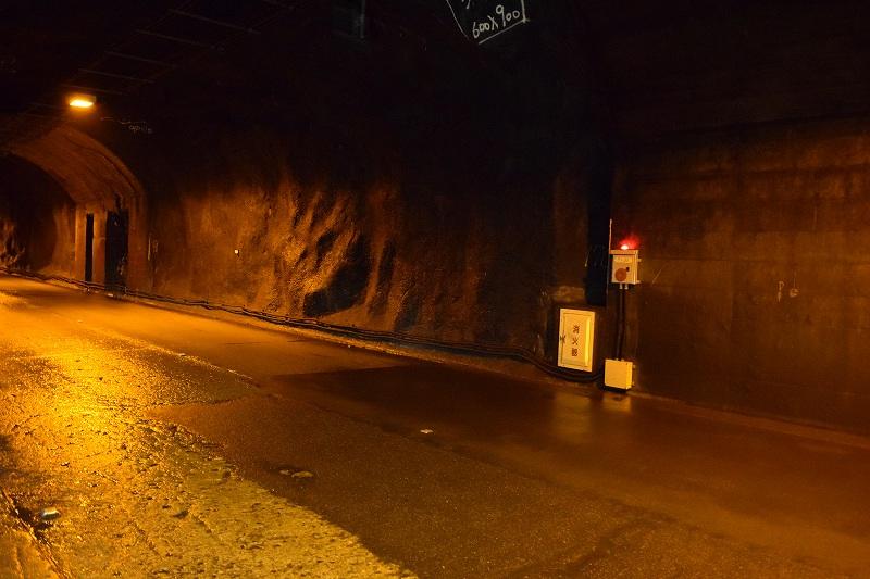 奥只見湖シルバーライン トンネル内