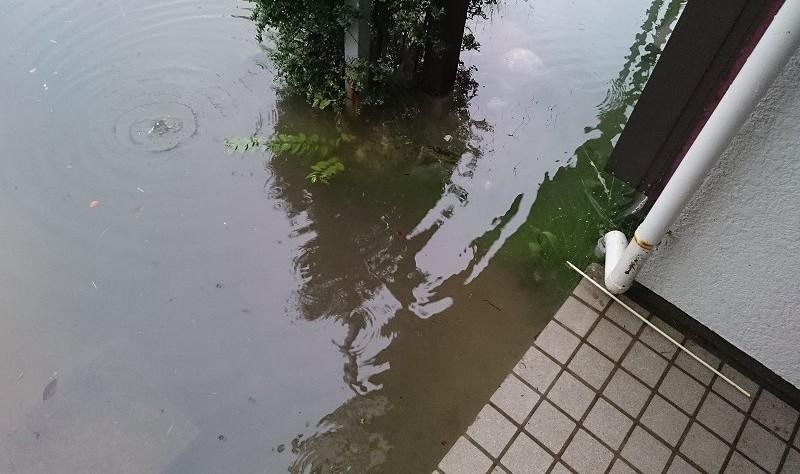 床下浸水 玄関