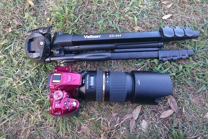 Velbon 三脚 EX-444 と一眼レフカメラ